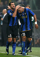 Fotball<br /> Frankrike<br /> Foto: DPPI/Digitalsport<br /> NORWAY ONLY<br /> <br /> FOOTBALL - CHAMPIONS LEAGUE 2008/2009 - GROUP STAGE - GROUP B - 081022 - INTER MILAN v ANORTHOSSIS FAMAGUSTA FC - JOY ADRIANO / DEJAN STANKOVIC (INT)