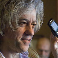 Anti-poverty campaigner Sir Bob Geldof turned his attention to the issue of truancy during a visit to Scotland on Wednesday.<br /> The former rocker is joining forces with Falkirk Council to roll out a text message warning system for the parents of absent children.