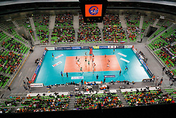 Arena during volleyball match between ACH Volley Ljubljana and Bre Banca Lannutti Cuneo (ITA) in Playoff 12 game of CEV Champions League 2012/13 on January 15, 2013 in Arena Stozice, Ljubljana, Slovenia. (Photo By Vid Ponikvar / Sportida.com)
