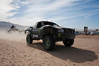 Trophy truck arrives at finish of 2011 San Felipe Baja 250