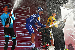 March 9, 2019 - Siena, Italia - Foto Gian Mattia D'Alberto / LaPresse.09-03-2019 Siena.Sportciclismo.Gara ciclistica Strade Bianche 2019 .nella foto: Jakob Fuglsang (Dan, Astana) il vincitore Julian ALAPHLIPPPE (Fra, Deceuninck-QuickStep) Wout Van Aert (Bel, Jumbo-Visma)..Photo Gian Mattia D'Alberto  / LaPresse.2019-03-09 SienaSportCycling.Strade Bianche 2019 .in the photo: Jakob Fuglsang (Dan, Astana) the winner Julian ALAPHLIPPPE (Fra, Deceuninck-QuickStep) Wout Van Aert  (Credit Image: © Gian Mattia D'Alberto/Lapresse via ZUMA Press)