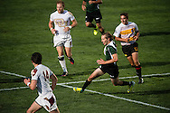 Utah Valley University takes on the University of Denver at Red Bull Uni 7s Rugby Qualifiers at Infinity Park in Glendale, CO, USA, on 25 August, 2016.