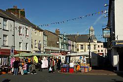 Market day; Whitehaven; Cumbria UK