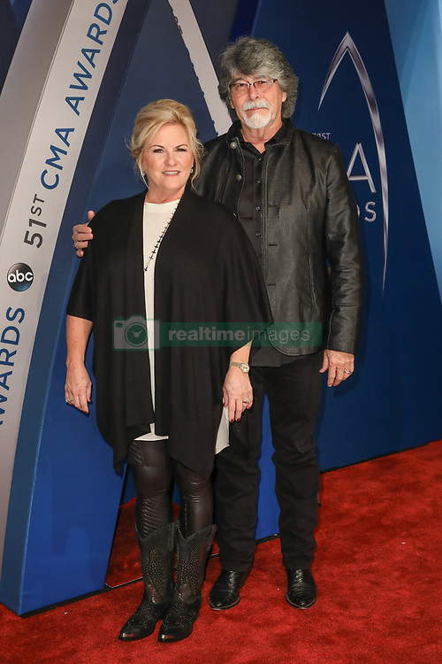 Thomas Rhett at the 51st Annual Country Music Association Awards hosted by Carrie Underwood and Brad Paisley and held at the Bridgestone Arena on November 8, 2017 in Nashville, TN. © Curtis Hilbun / AFF-USA.com. 08 Nov 2017 Pictured: Kelly Owen and Randy Owen. Photo credit: MEGA TheMegaAgency.com +1 888 505 6342