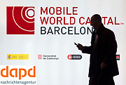 The Mobile World Congress . The MWC meets for four days the best companies of mobile telephony. All brands will set out their latest developments in mobile technology.  FOTO: TONI VILCHES.