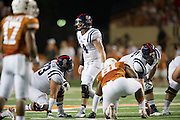 AUSTIN, TX - SEPTEMBER 14: Bo Wallace #14 of the Mississippi Rebels calls a play against the Texas Longhorns on September 14, 2013 at Darrell K Royal-Texas Memorial Stadium in Austin, Texas.  (Photo by Cooper Neill/Getty Images) *** Local Caption *** Bo Wallace