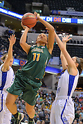 April 4, 2016; Indianapolis, Ind.; Megan Mullings is fouled while going up for a layup in the NCAA Division II Women's Basketball National Championship game at Bankers Life Fieldhouse between UAA and Lubbock Christian. The Seawolves lost to the Lady Chaps 78-73.
