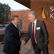 20.01.17<br /> Minister of State for Employment and Small Business, Deputy Pat Breen addressed a seminar for SMEs on The Role of Education in Supporting Small Business at University of Limerick.<br /> <br /> Pictured at the event were, Minister of State for Employment and Small Business, Deputy Pat Breen, and Dr. Phillip O'Regan, Dean of Kemmy Business School, UL.<br /> <br />  Jointly hosted by the Kemmy Business school and the faculty of Science and Engineering, the event brought together small and medium enterprises along with representative bodies, Local Enterprise Offices, Chambers of Commerce, Irish Small and Medium Enterprises association (ISME), Enterprise Ireland and the IDA. The aim of the event was to stimulate greater collaboration between third level institutes and SMEs in relation to research, education and business advice. To date, University of Limerick and Limerick Institute of Technology have supported a number of start-ups through the Nexus Innovation Centre and LIT's Enterprise Centres while academic staff have provided expert advice to local companies. Picture: Alan Place
