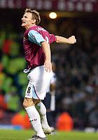 Photo: Daniel Hambury.<br />West Ham Utd v West Bromwich Albion. The Barclays Premiership. 05/11/2005.<br />West Ham's Teddy Sheringham celebrates his goal.