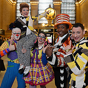 Clowns change time in Grand Central