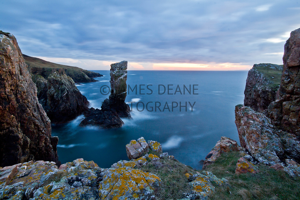 Soldiers Rock, a sea stack on The Oa Peninsula, Isle of Islay