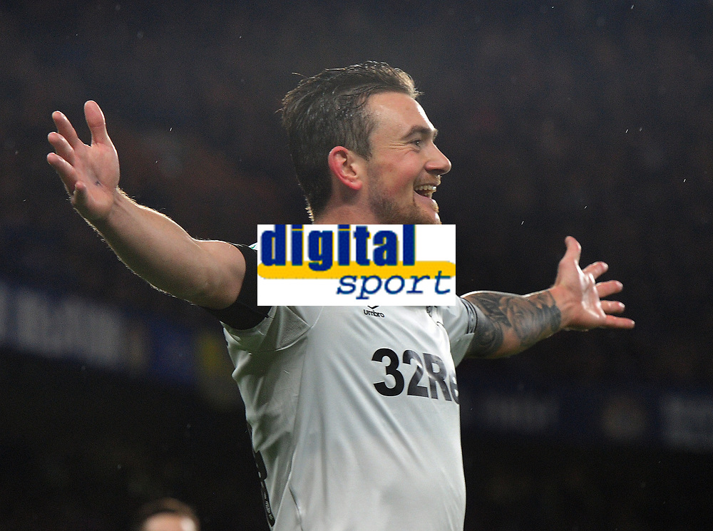 Football - 2018 / 2019 EFL Carabao (League) Cup - Fourth Round: Chelsea vs. Derby County<br /> <br /> Jack Marriott of Derby celebrates his equalising goal, at Stamford Bridge.<br /> <br /> COLORSPORT/ANDREW COWIE