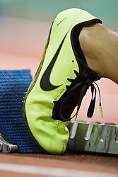 Millrose Games indoor track and field: Nike Flywire spikes in blocks