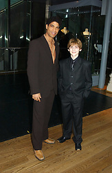Dancer CARLOS ACOSTA and LEON COOKE who plays Billy Elliot in the musical Billy Elliot at The Critic's Circle National Dance Awards 2005 held at The Royal Opera House, Covent Garden on 19th January 2006.<br /><br />NON EXCLUSIVE - WORLD RIGHTS