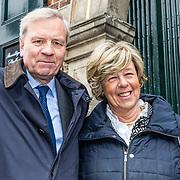 NLD/Naarden//20170414 - Matthaus Passion in de grote kerk van Naarden, Jaap de Hoop Scheffer en partner Jeannine de Hoop Scheffer-van Oorschot