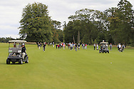 A small crowd walking up the 18th during the Final of the AIG Senior Cup at the AIG Cups & Shields National Finals in Carton House on the 19/09/15.<br /> Picture: Thos Caffrey | Golffile
