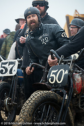 Matt Walksler of North Carolina in the staging area for TROG West - The Race of Gentlemen. Pismo Beach, CA, USA. Saturday October 15, 2016. Photography ©2016 Michael Lichter.