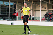 Referee Tihomir Pejin of Croatia during the UEFA European Under 17 Championship 2018 match between Israel and Italy at St George's Park National Football Centre, Burton-Upon-Trent, United Kingdom on 10 May 2018. Picture by Mick Haynes.