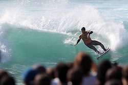 October 20, 2018 - Peniche, Portugal - Gabriel Medina of Brazil in action during the World Surf League MEO Rip Curl Pro Portugal, the 10th event of the WSL Men's Championship Tour, at the Supertubos beach in Peniche, Portugal, on October 20, 2018. (Credit Image: © Pedro Fiuza/ZUMA Wire)