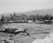 Ackroyd 00002-09. Timberline Lodge parking lot. September 30, 1945