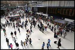 August 5, 2017 - London, London, United Kingdom - Image ©Licensed to i-Images Picture Agency. 05/08/2017. London, United Kingdom. Waterloo Station major engineering project. .Commuters at London Waterloo. .Thousands of rail passengers are facing more than three weeks of travel chaos at London Waterloo station, UK's busiest station. Ten platforms at will be closed from today, 5 August until 28 August as work begins on a major engineering project to allow longer trains to operate on suburban routes from December 2018..Picture by Dinendra Haria / i-Images (Credit Image: © Dinendra Haria/i-Images via ZUMA Press)