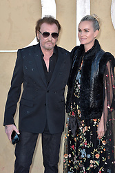 Johnny Hallyday and Laeticia Hallyday attend the Christian Dior Cruise 2018 on May 11th, 2017 in Calabasas, California. Photo by ABACAPRESS.COM