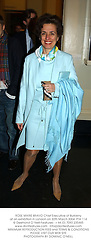 ROSE MARIE BRAVO Chief Executive of Burberry at an exhibition in London on 30th March 2004.PTA 114