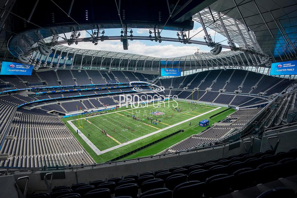 Tottenham Stadium during the NFL Flag National Championship Finals during the NFL UK Media Day at Tottenham Hotspur Stadium, London, United Kingdom on 3 July 2019.