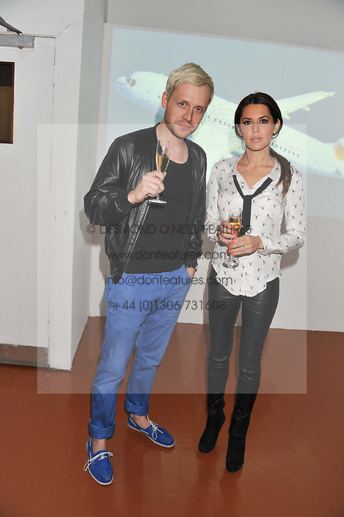 DANIELLE LINEKER and MR HUDSON at the launch of Flight BA2012 - an evening of Art, Food and Film to see Olympic Games inspires work by rising British Talent held at BA's pop up venue at 3-10 Shoreditch High Street, London E1 on 3rd April 2012.