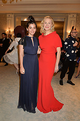 Left to right, singer KATIE MELUA and DINA KORZUN at the Gift of Life Gala Ball celebrating the Russian Old new Year's Eve in aid of the Gift of Life foundation held at The Savoy, London on 13th January 2015.