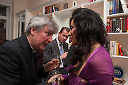 FATHER MICHAEL SEED; SIMON ROBINSON; NANCY DELL D'OLIO;, Drinks party given by Basia and Richard Briggs,  Chelsea. London. SW3. 13 February 2014.