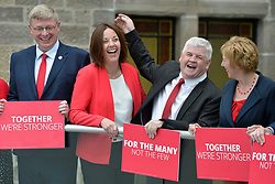 Scottish Labour MPs (left to right) Martin Whitfield, Scottish Labour leader Kezia Dugdale, Hugh Gaffney and Lesley Laird after a press conference at the Rutherglen Town Hall, Glasgow.