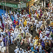 A barat (procession) during a mass wedding of the Dawoodi Bhora community in Mumbai, June 2012. 340 couple from of Dawoodi Bhora communities accross the world had their Nikah (marriage) solemnized in this mass marriage ceremony.