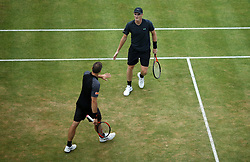 Jamie Murray and Bruno Soares during day six of the 2017 AEGON Championships at The Queen's Club, London.