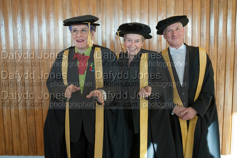 RECIPIENTS OF HONORY FELLOWSHIPS; BETTE BOURNE; HELEN LANNAGHAN; JOSEPH SELIG  Central School of Speech and Drama presents Honory Fellowships to Carrie Fisher, Bette Bourne, Joseph Selig and Helen Lannaghan. Royal Festival Hall. London. 12 December 2011.