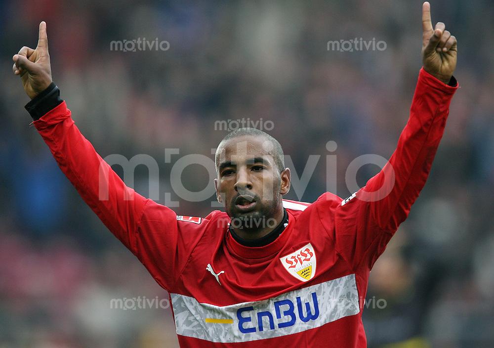 Fussball Bundesliga 27. Bundesliga  VfB Stuttgart - Alemannia Aachen JUBEL VfB; Cacau nach seinem Tor zum 3-1