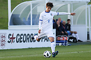 Giuseppe Leone of Italy (4) crosses during the UEFA European Under 17 Championship 2018 match between Israel and Italy at St George's Park National Football Centre, Burton-Upon-Trent, United Kingdom on 10 May 2018. Picture by Mick Haynes.