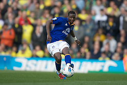 NORWICH, ENGLAND - Saturday, April 7, 2012: Everton's Nikica Jelavic  shows his disappontment as his brace was not enough to give Everton all the three points  in  the Premiership match at Carrow Road. (Pic by Marcello Pozzetti/Propaganda)NORWICH, ENGLAND - Saturday, April 7, 2012: Everton's Magaye Gueye  in  the Premiership match at Carrow Road. (Pic by Marcello Pozzetti/Propaganda)