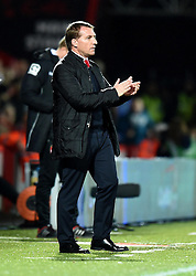 Liverpool Manager, Brendan Rodgers on the touchline at Goldsands Stadium - Photo mandatory by-line: Paul Knight/JMP - Mobile: 07966 386802 - 17/12/2014 - SPORT - Football - Bournemouth - Goldsands Stadium - AFC Bournemouth v Liverpool - Capital One Cup