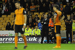 Wolverhampton Wanderer Manager, Kenny Jackett looks on as his side lose 1 - 3  - Photo mandatory by-line: Dougie Allward/JMP - Mobile: 07966 386802 - 01/10/2014 - SPORT - Football - Wolverhampton - Molineux Stadium - Wolverhampton Wonderers v Huddersfield Town - Sky Bet Championship