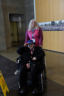 Norma Merrill and her daughter Jane at The Women's Memorial, Washington DC.