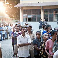 Dili, East Timor, 07 July 2012<br /> East Timorese citizen line up to cast their votes at a polling station during the legislative elections.<br /> Photo: Ezequiel Scagnetti © European Union