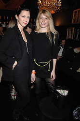 Left to right, MARGO STILLEY and MEREDITH OSTROM daughter of singer Sting in the Moet & Chandon Room at British Fashion Week at the Natural History Museum on 15th February 2007.<br />