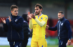 Bristol Rovers players applaud the fans at full time - Mandatory by-line: Matt McNulty/JMP - 27/04/2019 - FOOTBALL - Highbury Stadium - Fleetwood, England - Fleetwood Town v Bristol Rovers - Sky Bet League One