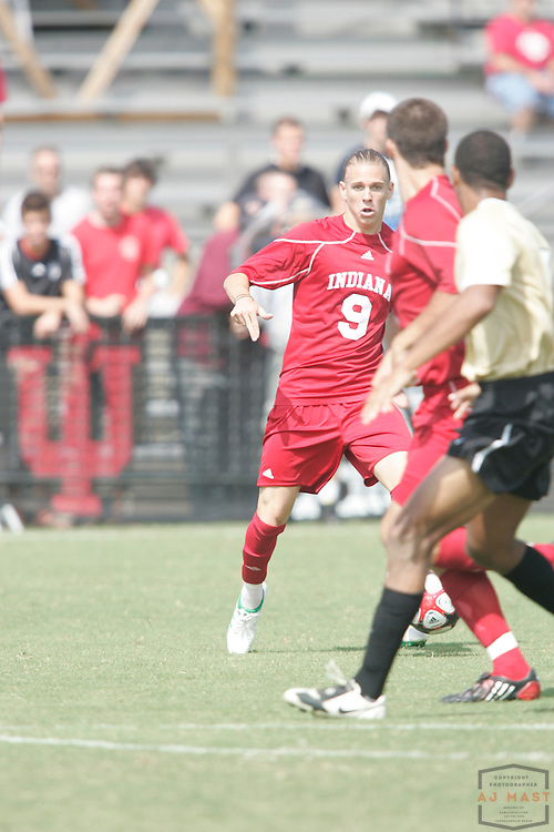 06 September 2009: Indiana's Alec Purdie as the Indiana Hoosiers played the Wake Forest Demon Deacons in a college soccer game in Bloomington, Ind.