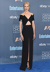 Stars attend the 22nd Annual Critics Choice Awards in Santa Monica, California. 11 Dec 2016 Pictured: Nicole Kidman. Photo credit: Bauer Griffin / MEGA TheMegaAgency.com +1 888 505 6342
