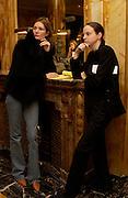 Plum Sykes and Alexandra Kotur, Getting ready before the  Thirteenth Annual Crillon Haute Couture Ball. Paris,  29 November 2003. © Copyright Photograph by Dafydd Jones 66 Stockwell Park Rd. London SW9 0DA Tel 020 7733 0108 www.dafjones.com
