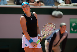 May 28, 2019 - Paris, FRANCE - Jelena Ostapenko of Latvia in action during her first-round match at the 2019 Roland Garros Grand Slam tennis tournament (Credit Image: © AFP7 via ZUMA Wire)