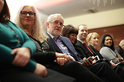 © Licensed to London News Pictures . 04/02/2017 . Liverpool, UK . Labour Party leader Jeremy Corbyn and Shadow Chancellor John McDonnell launch the party's first regional economic conference at the Devonshire House Hotel . Photo credit : Joel Goodman/LNP