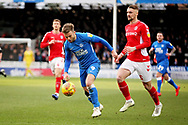 Peterborough Utd forward Matthew Godden (9) gets away during the EFL Sky Bet League 1 match between Peterborough United and Charlton Athletic at London Road, Peterborough, England on 26 January 2019.